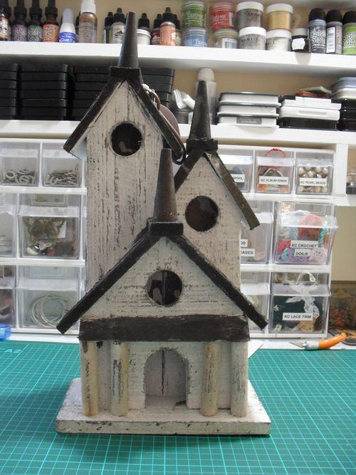 Before photo Olde Curiosity shoppe birdhouse
