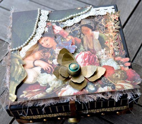 Susan Lui Graphic 45 Renaissance Faire Curtain Call Altered Box 4