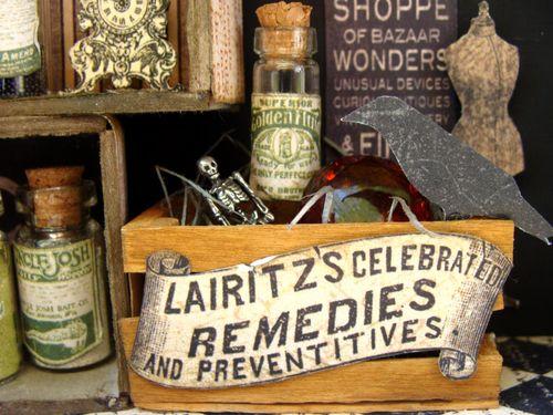 11  Nicole Eccles Olde Curiosity Shoppe Altered Apothecary cart