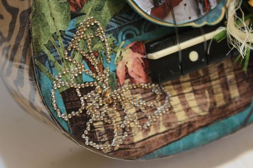 Denise Hahn Tropical Travelogue Altered Ukulele3