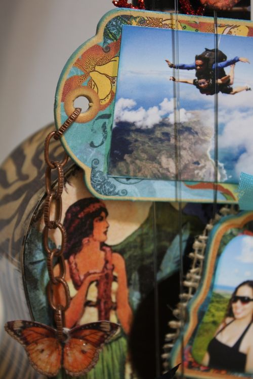 Denise Hahn Tropical Travelogue Altered Ukulele5