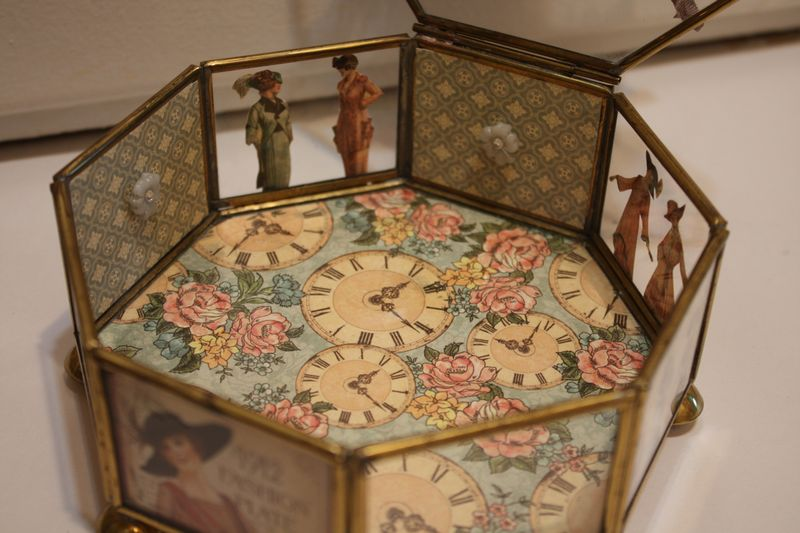Denise Hahn Graphic 45 Ladies Diary Altered Jewelry Box - 13