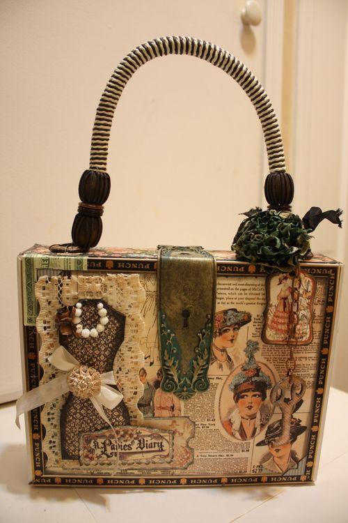 Denise Hahn Graphic 45 Ladies Diary Cigar Box Keepsake Box - 01