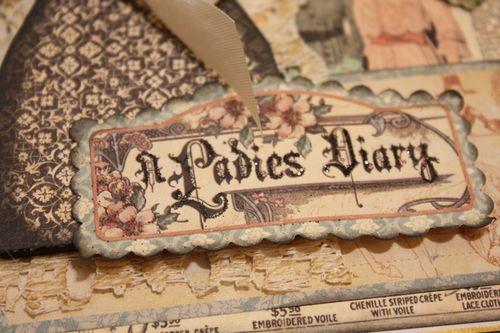 Denise Hahn Graphic 45 Ladies Diary Cigar Box Keepsake Box - 05