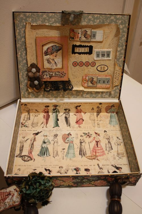 Denise Hahn Graphic 45 Ladies Diary Cigar Box Keepsake Box - 07