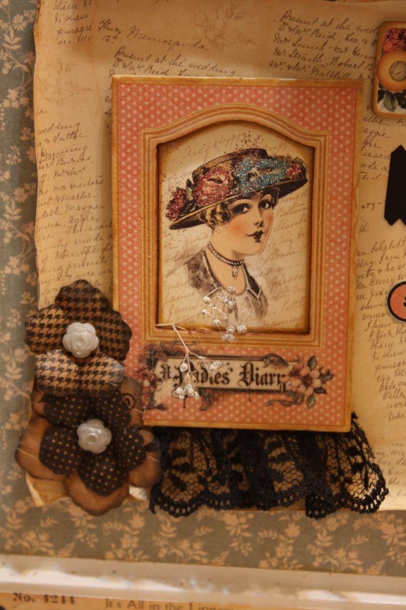 Denise Hahn Graphic 45 Ladies Diary Cigar Box Keepsake Box - 08