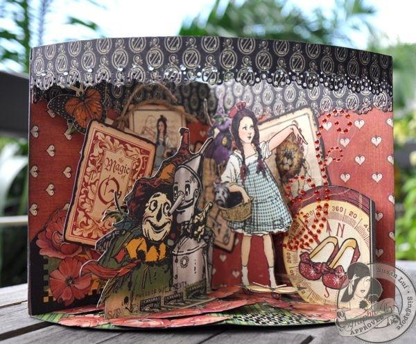 Susan Lui Graphic 45 Magic of Oz 3D Card 4