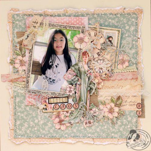 Graphic45 Sharon Ngoo Layout Ladies Diary