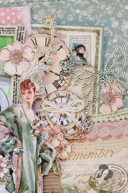 Graphic45 Sharon Ngoo Layout Ladies Diary (detail 2)
