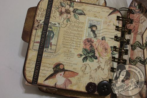 Denise Hahn CHA A Ladies Diary Mini Album Graphic 45 - 11-imp