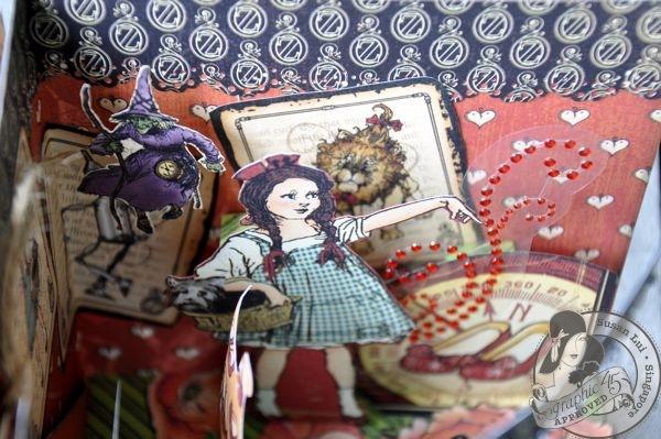 Susan Lui Graphic 45 Magic of Oz 3D Card 6