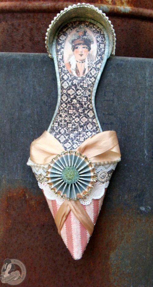 3 Nicole Eccles- July CHA- G45 Ladies Diary- High  Heel Shoe