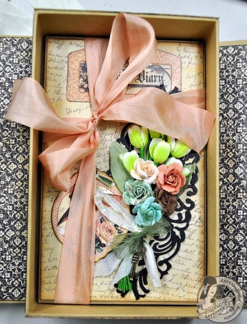 A Ladies' Diary Altered Art Box Jane Tregenza