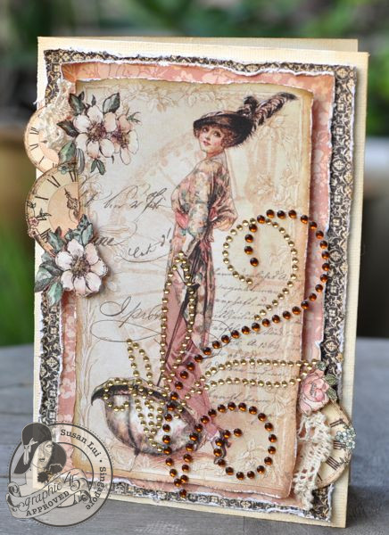 Susan Lui Graphic 45 Ladies Diary Ladies Card 1
