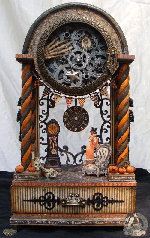 1 Nicole Eccles- August - G45 Happy Haunting Altered Clock