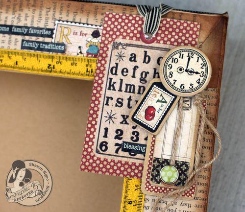 Graphic45 Sharon Ngoo Trinket Drawer ABC Primer (clock)