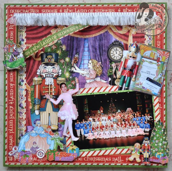Susan Lui Graphic 45 Nutcracker Sweet The Nutcracker Layout 1