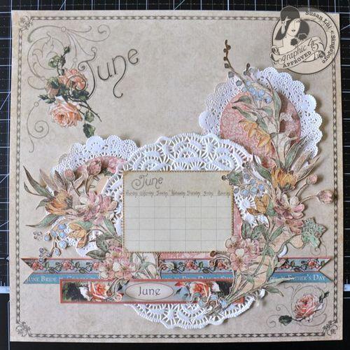 Susan Lui Place In Time Calendar June Tutorial 4