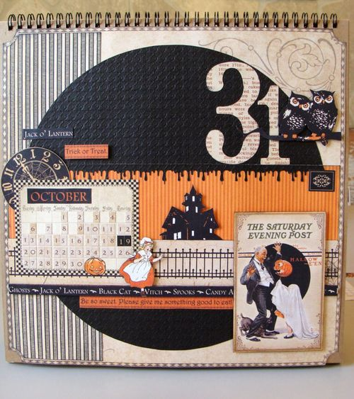 Finished Project 2 Nicole Eccles -Graphic 45 A Place and Time October Calendar Tutorial