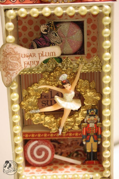 Denise Hahn Graphic 45 Nutcracker Sweet Altered iPhone box - 1-imp