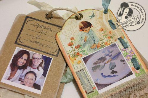 Denise Hahn Graphic 45 Secret Garden Small Tag Album - 10-imp