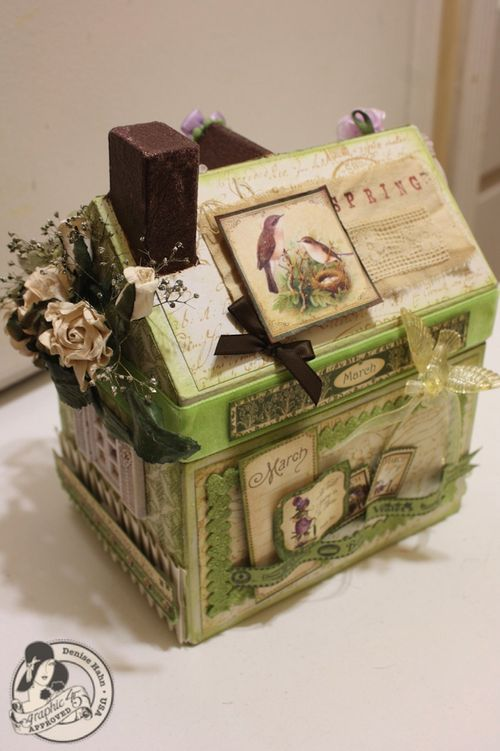 Denise Hahn Place in Time and Secret Garden Paper Mache Cottage - 1-imp