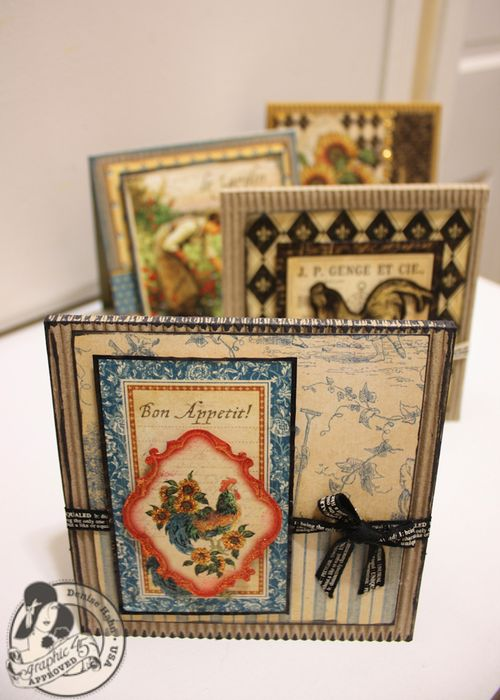 Denise Hahn Graphic 45 French Country 5 Step Cards - 01-imp
