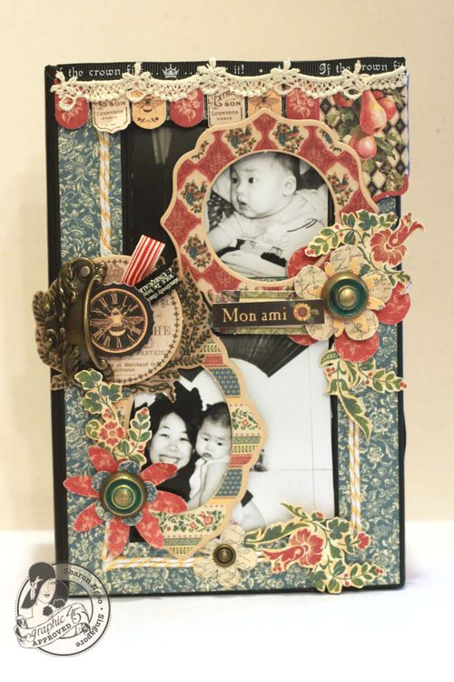 Graphic45 Sharon Ngoo French Country 5x8 altered art box (with photo)
