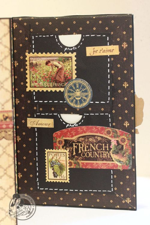 Graphic45 Sharon Ngoo French Country 5x8 altered art box (right flap)