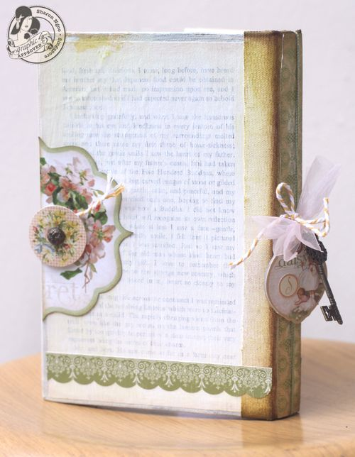Graphic45 Sharon Ngoo Secret Garden Handbound Journal (back)