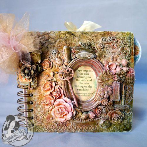 Secret Garden Mixed Media Mini Arlene Cuevas Book Video Tutorial