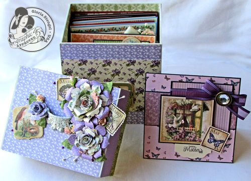 Place in Time Secret Garden Box Altered Art Cards Gift Gloria Stengel Graphic 45 Tutorial