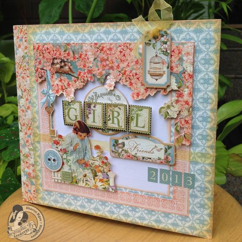 Graphic45 Sharon Ngoo Secret Garden 8X8 Stack Book