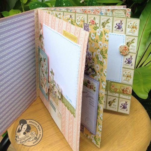 Graphic45 Sharon Ngoo Secret Garden 8X8 Stack Book inside