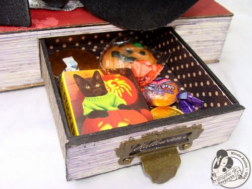Nicole Eccles- G45 Happy Haunting- Altered Art Box Assemblage 13