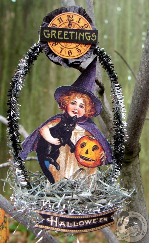 Nicole Eccles- September 1-2-Graphic 45 Happy Haunting - Simple Handmade Ornaments 2