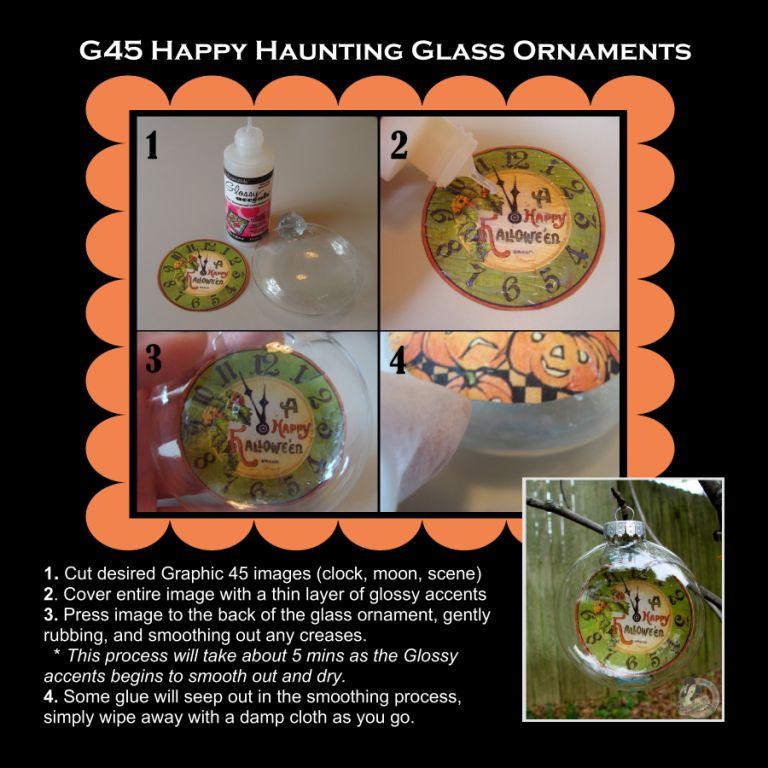 Nicole Eccles- G45 Happy Haunting- Glass Ornament Tutorial