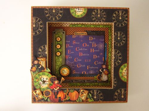 Happy Haunting Altered Art Matchbook Box