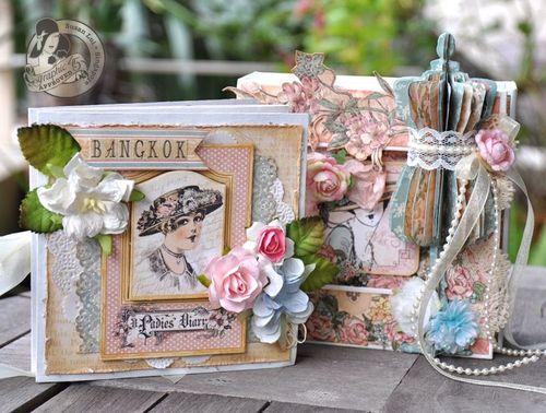 Susan Lui Graphic 45 Ladies Diary Art Box & Mini_ Bangkok 6