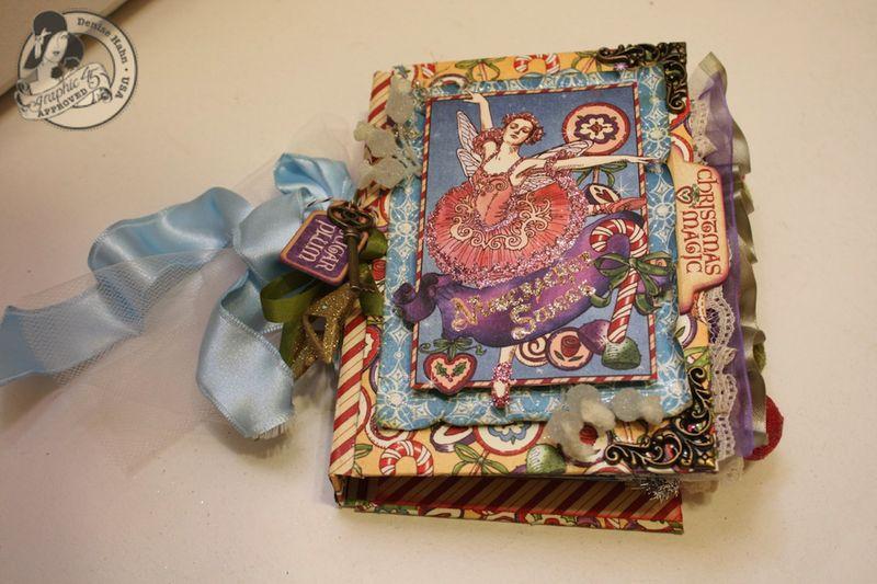 Denise Hahn Nutcracker Sweet Hand Bound Mini Album - 09-imp