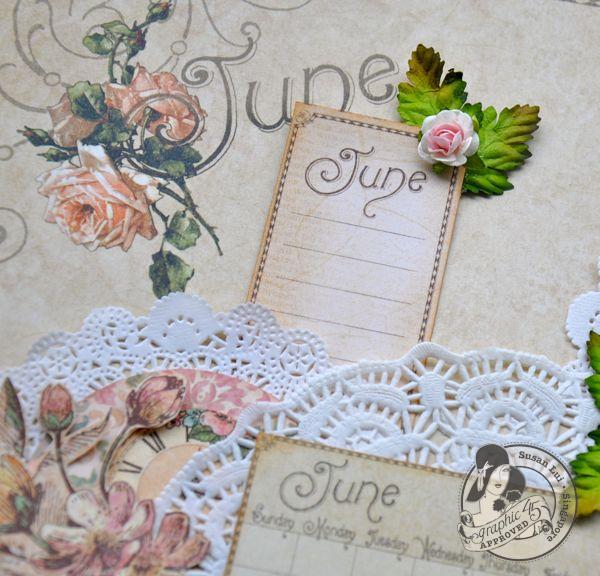 Susan Lui Place In Time Calendar June Tutorial 6