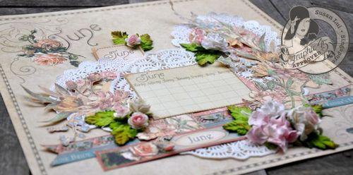 Susan Lui Place In Time Calendar June Tutorial 8