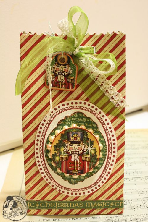 Denise Hahn Graphic 45 Scrapbook Adhesive Vintage Christmas Gift Bags - 08-imp