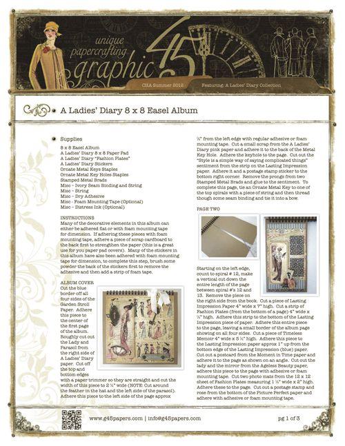 Graphic45-ALadiesDiary8x8EaselAlbumpg1