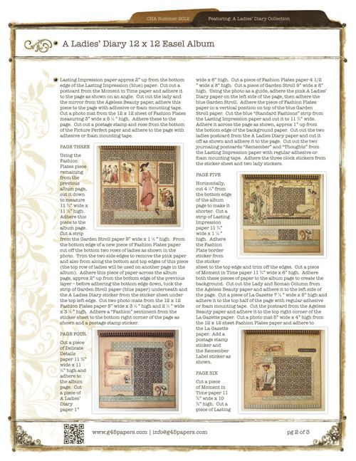 Graphic45-ALadiesDiary12x12EaselAlbum_2pg2