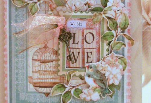 Graphic45 Sharon Ngoo Card Secret Garden (front)