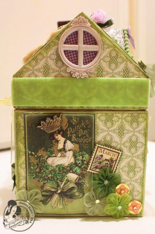 Denise Hahn Place in Time and Secret Garden Paper Mache Cottage - 7-imp