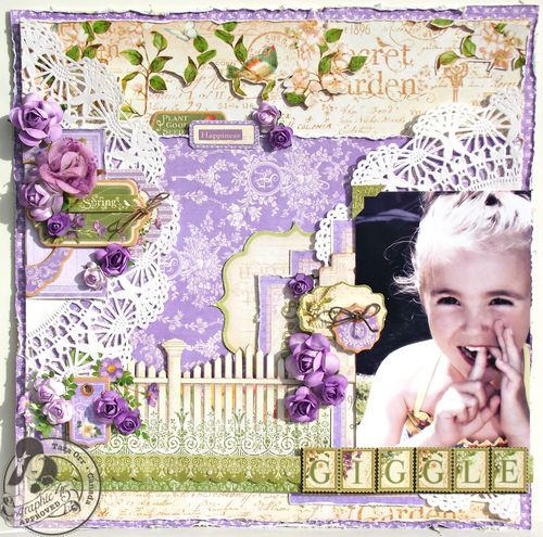 Secret Garden layout Graphic 45 Tara Orr