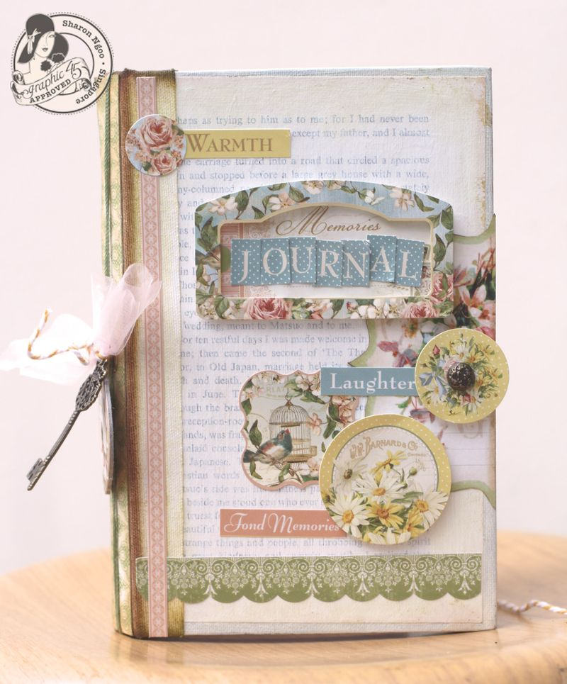 Graphic45 Sharon Ngoo Secret Garden Handbound Journal (front)