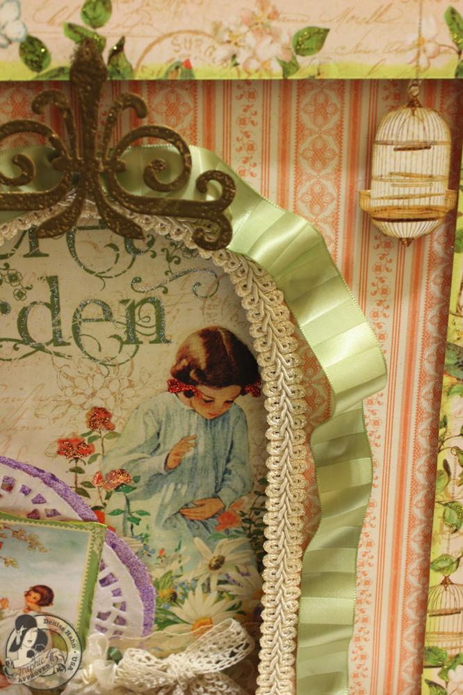 Denise Hahn CHA 2013 Secret Garden 12x12 Easel Album - 12-imp